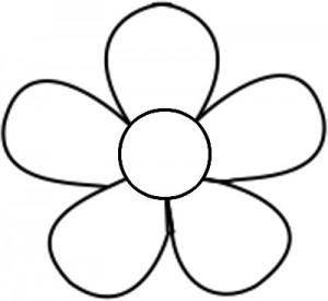 Free printable flower.