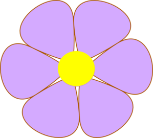 Purple Flower Clip Art at Clker