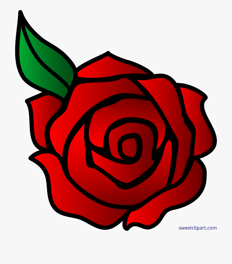 Flowers Rose Red Valentines Clip Art