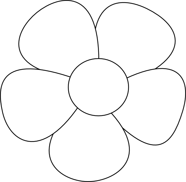 Simple flower svg.