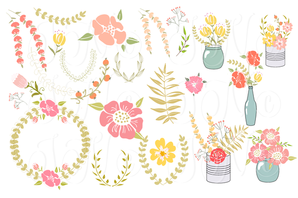 Free Bridal Floral Cliparts, Download Free Clip Art, Free