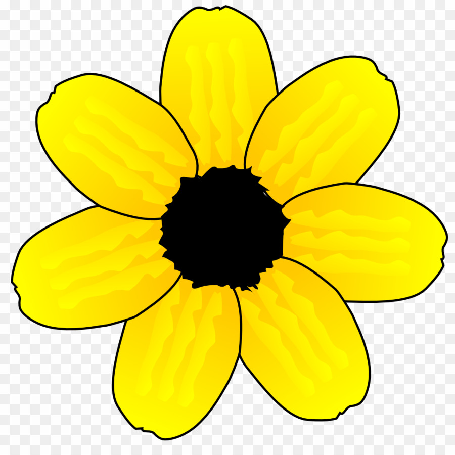 Flower yellow png.