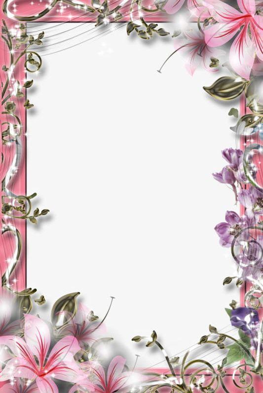 Beautiful flowers border.