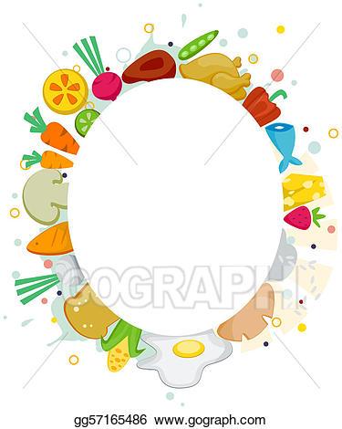 Drawing food frame.