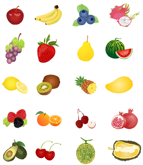 Fruit clipart including.