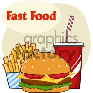 Fast food hamburger.