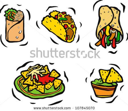 mexican food clipart -taco vector