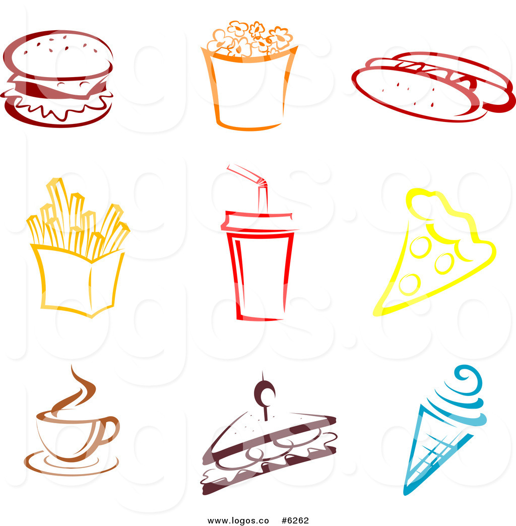 Royalty Free Clip Art Vector Logos of Colorful Fast Food by