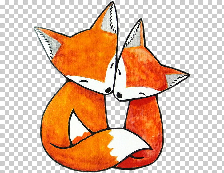 Red fox drawing.