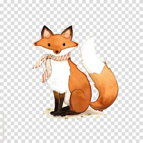 Red fox illustration.