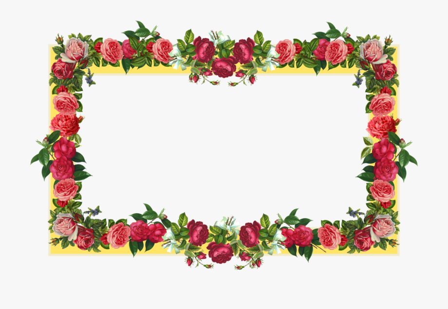 Orchid clipart frame.