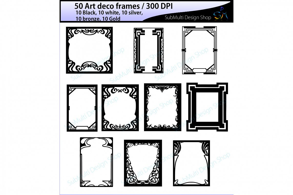 Art deco frames.
