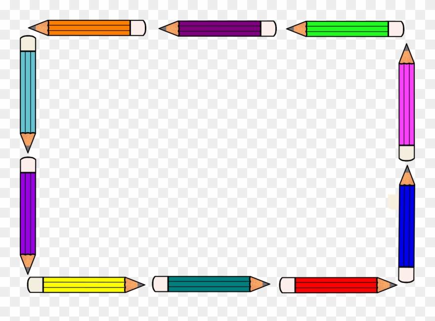 Pencil frame clipart.