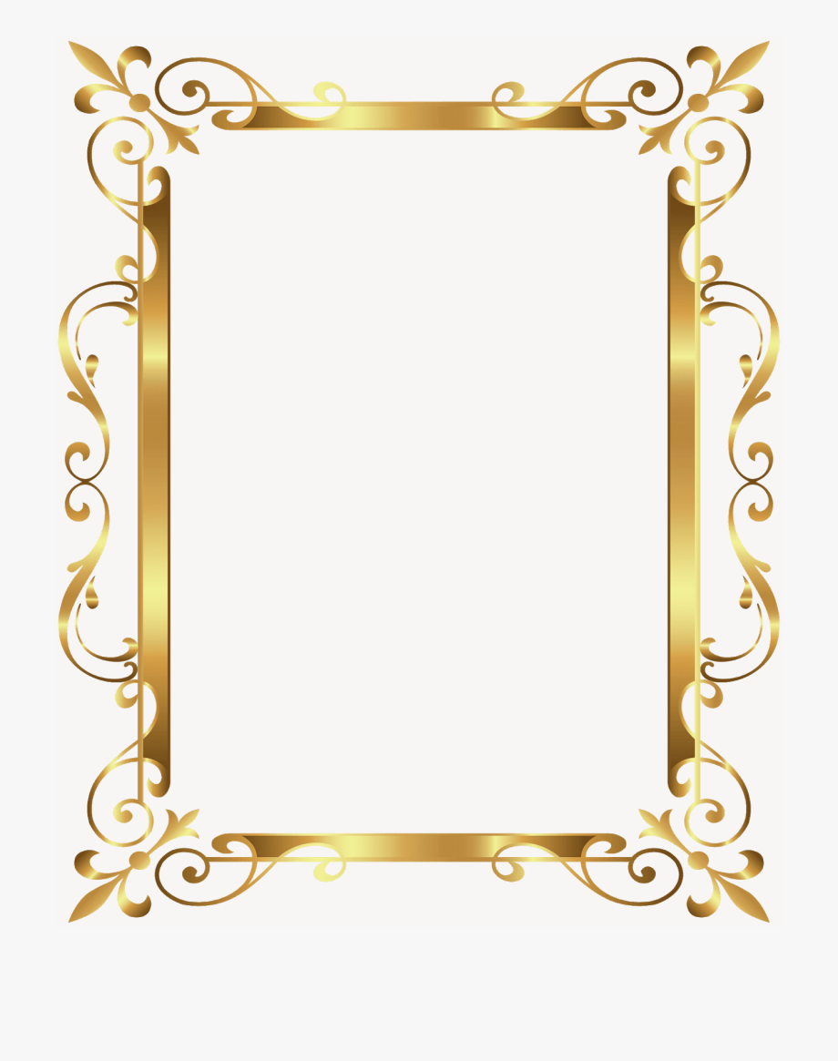 Gold frame picture.