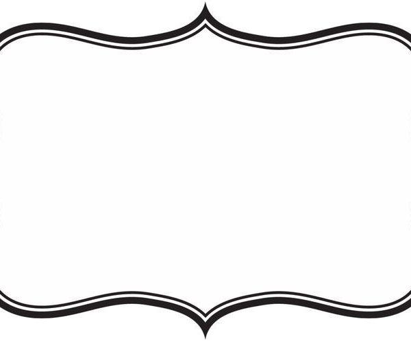 Label frame clipart.