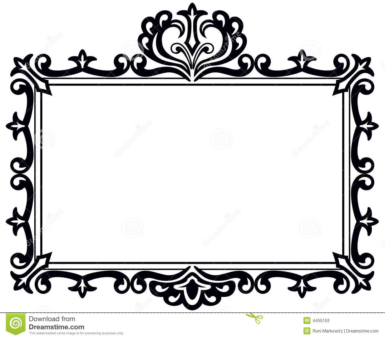 Rectangle frame clipart.