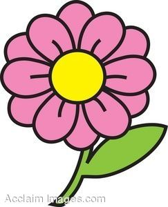 Clipart flower with.