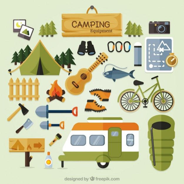Cute camping clip.