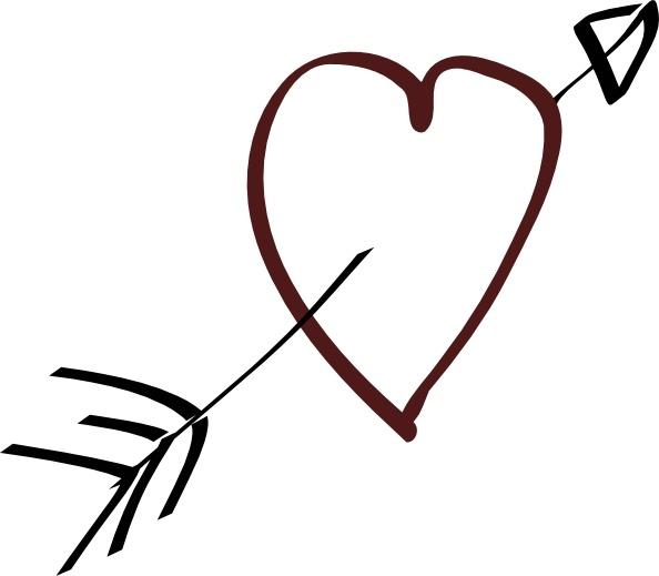 Valentine heart arrow.