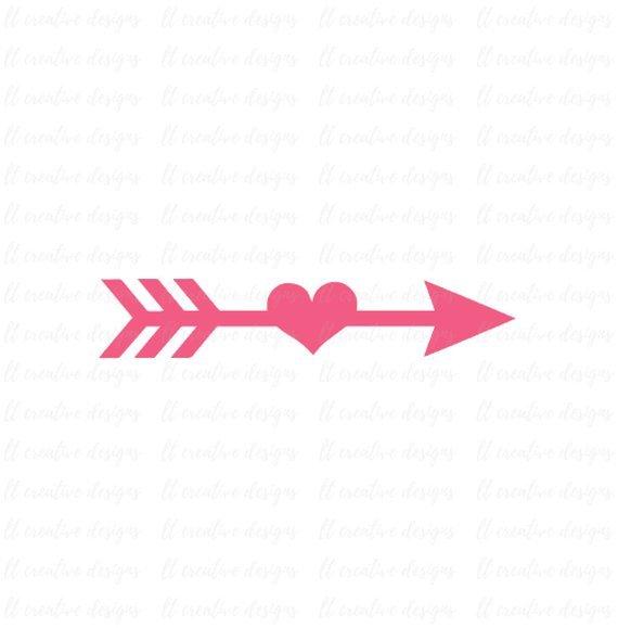 Heart arrow clipart.