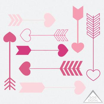 Pink heart arrow.