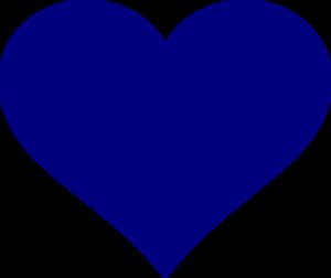 Heart clip art dark blue