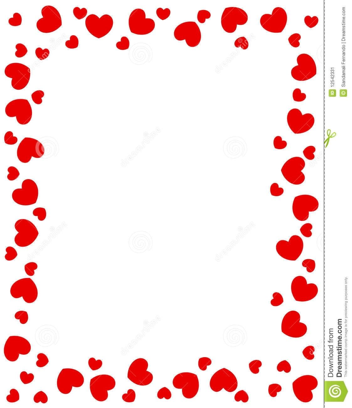 Heart border clipart.