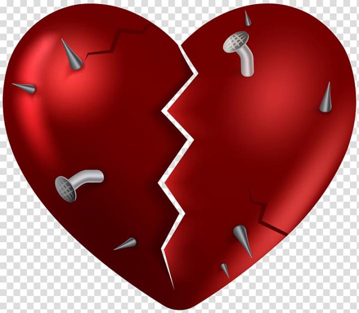 Broken heart broken.
