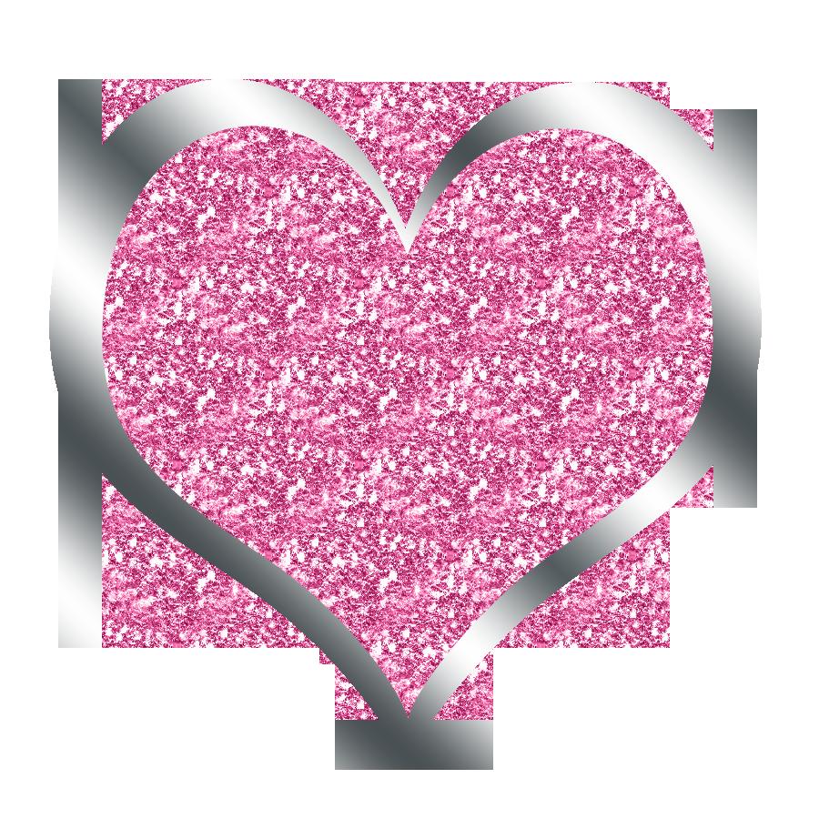 Heart clipart glitter.