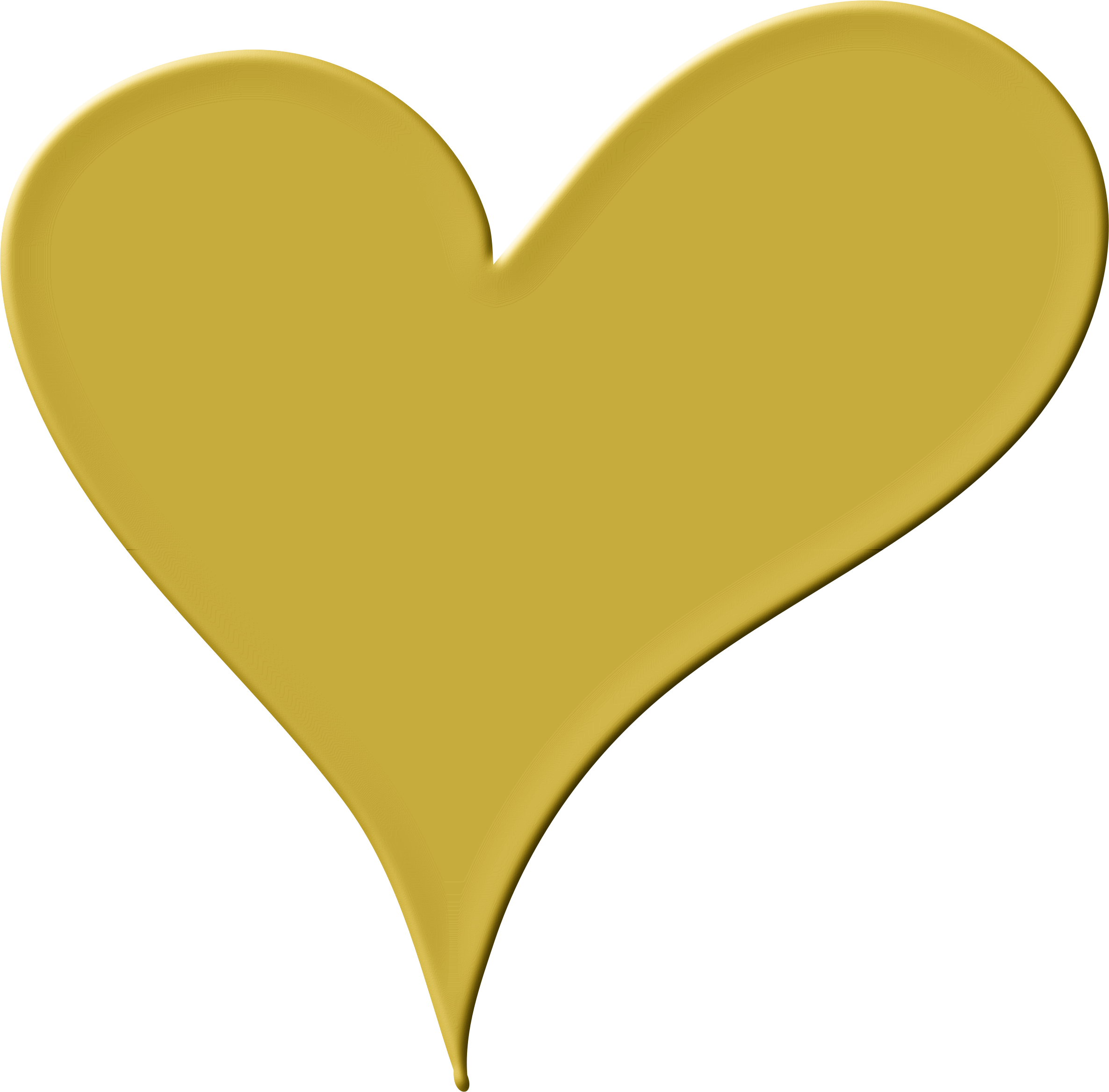 Gold drawing heart.
