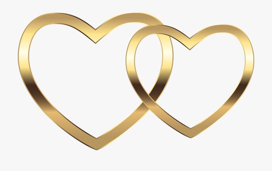 Heart clipart gold.