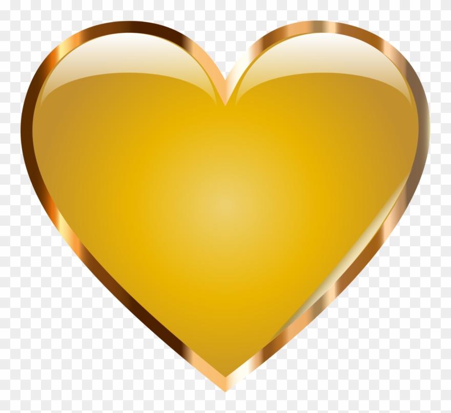 Gold Clipart Love Heart