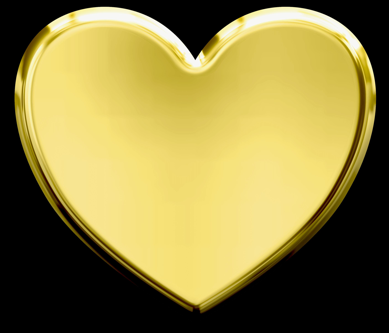 Heart Gold Clip art