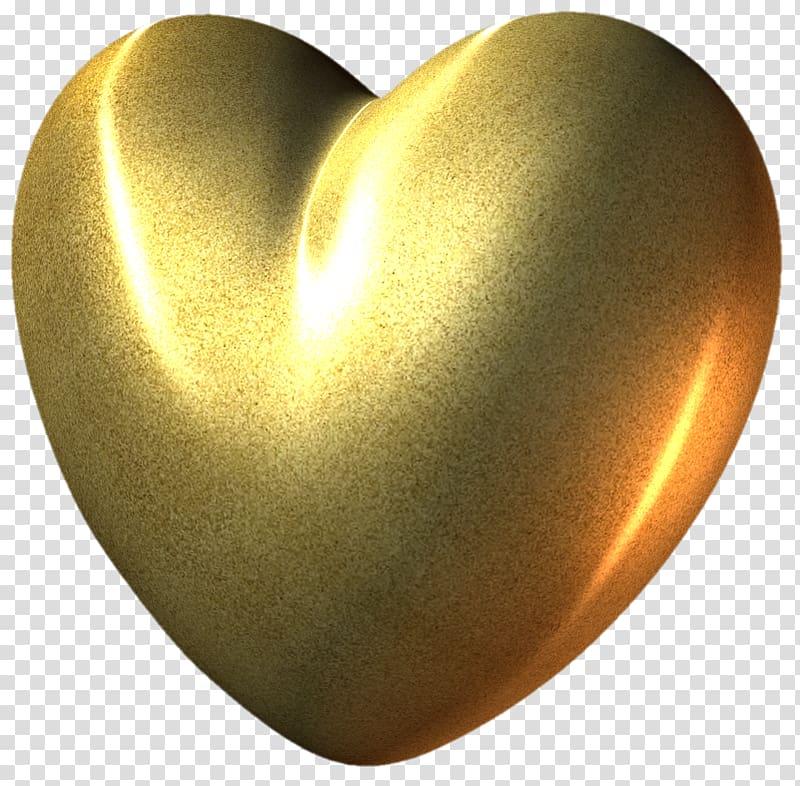 Yellow heart , Heart Gold , Gold Heart transparent