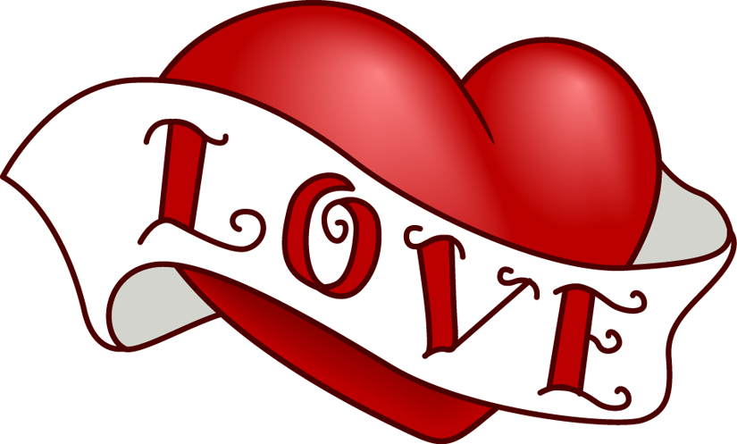 Love Heart Clipart Black And White
