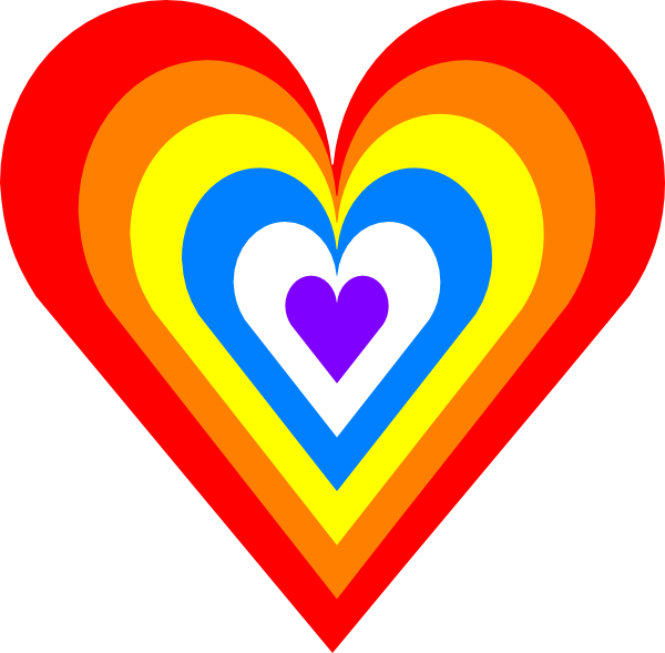 Rainbow Heart Computer Icons Clip art