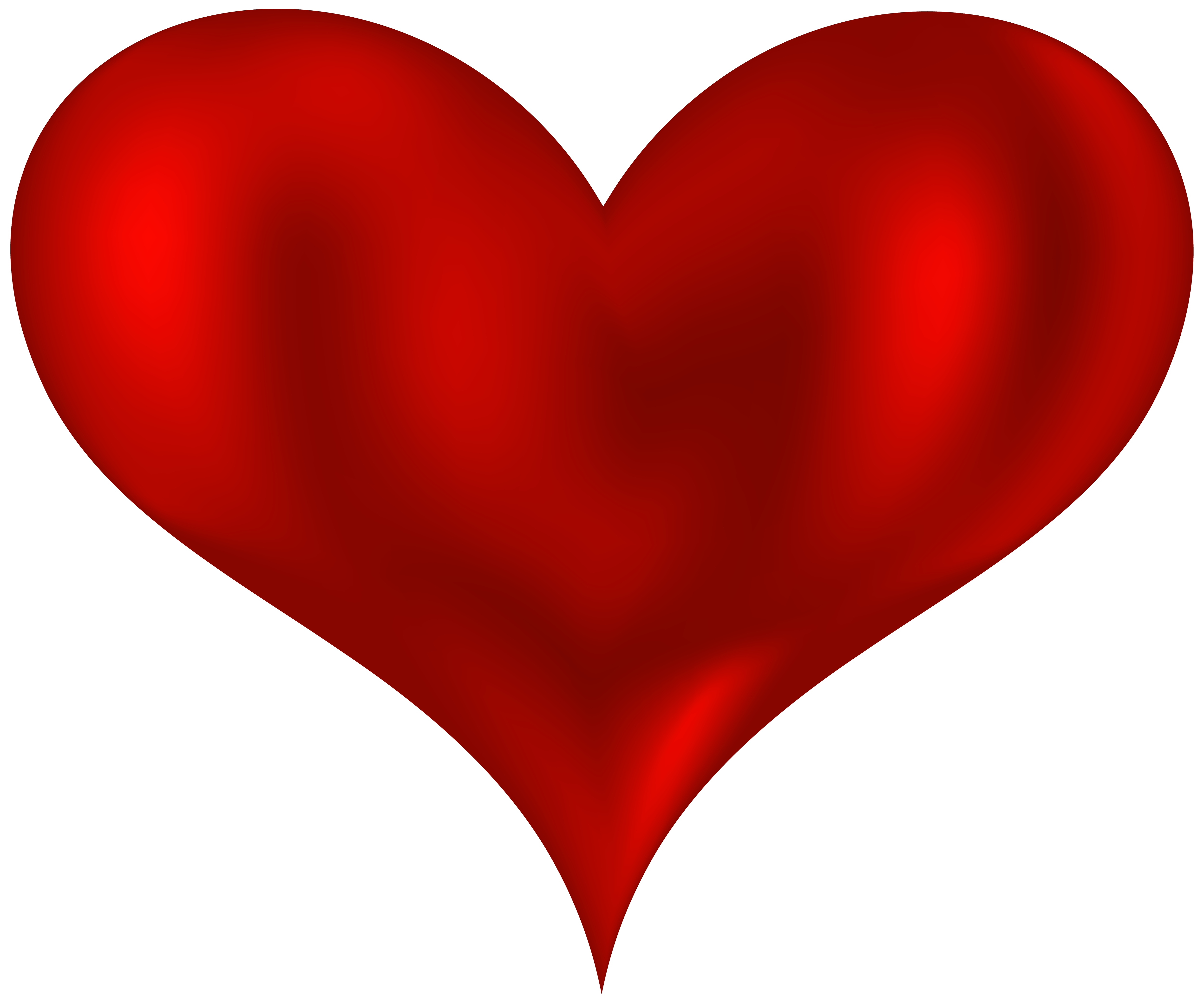 Beautiful Heart Red PNG Clipart