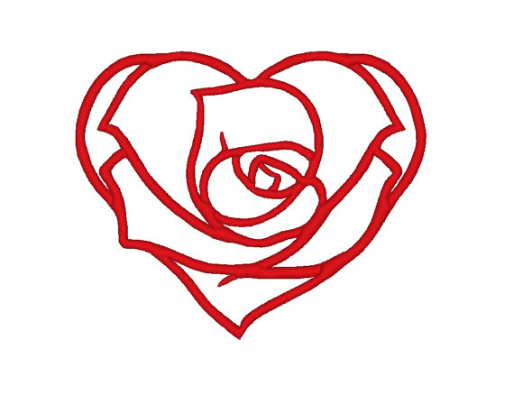 Free Rose Heart Cliparts, Download Free Clip Art, Free Clip