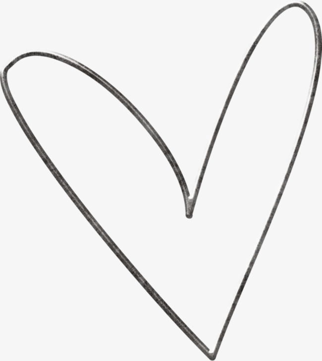 Download Free png Simple Heart, Heart Clipart, Black, Heart