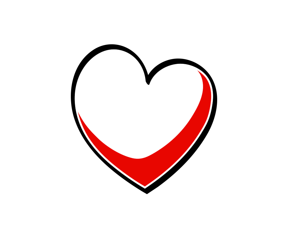 Outline heart png.