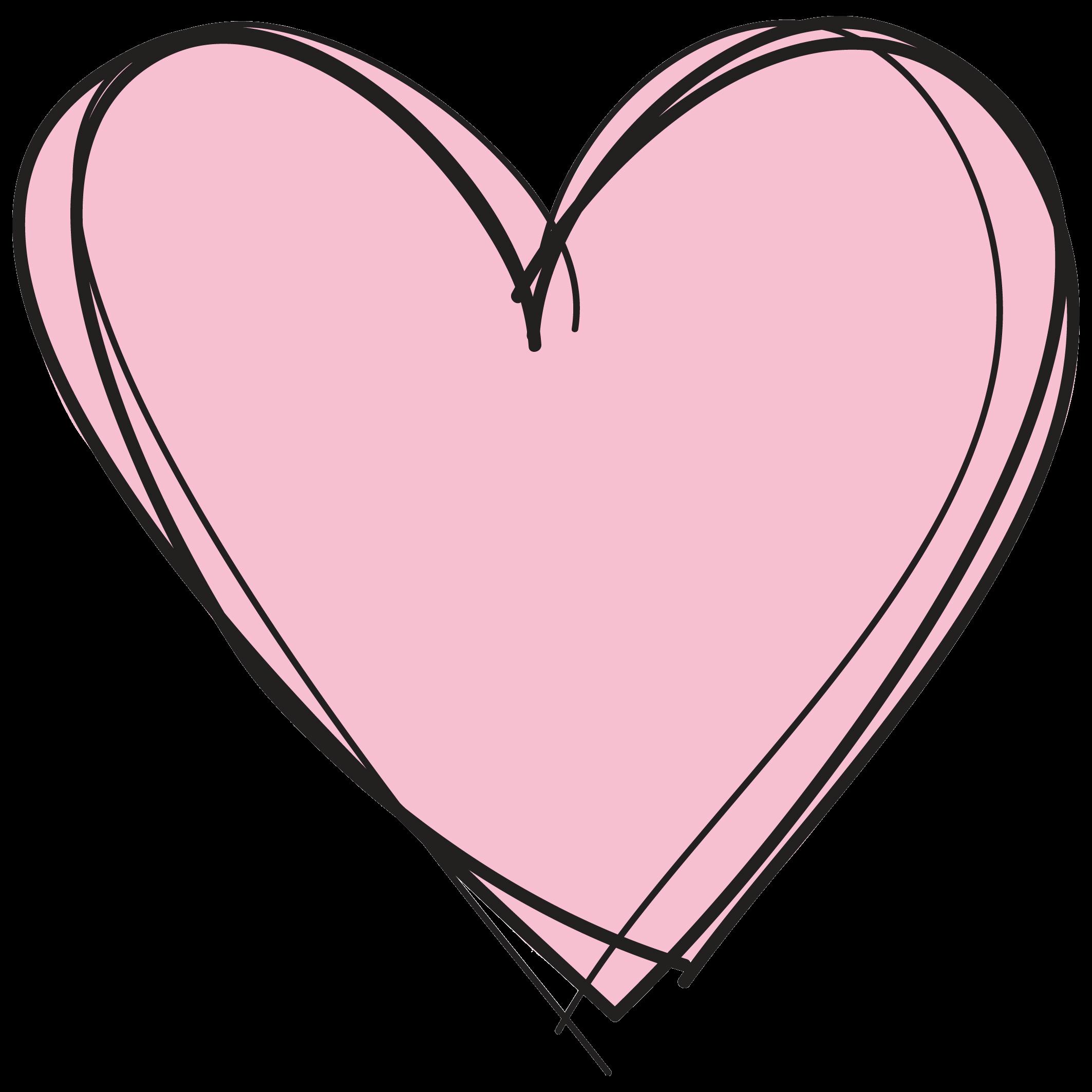 Pink heart transparent.