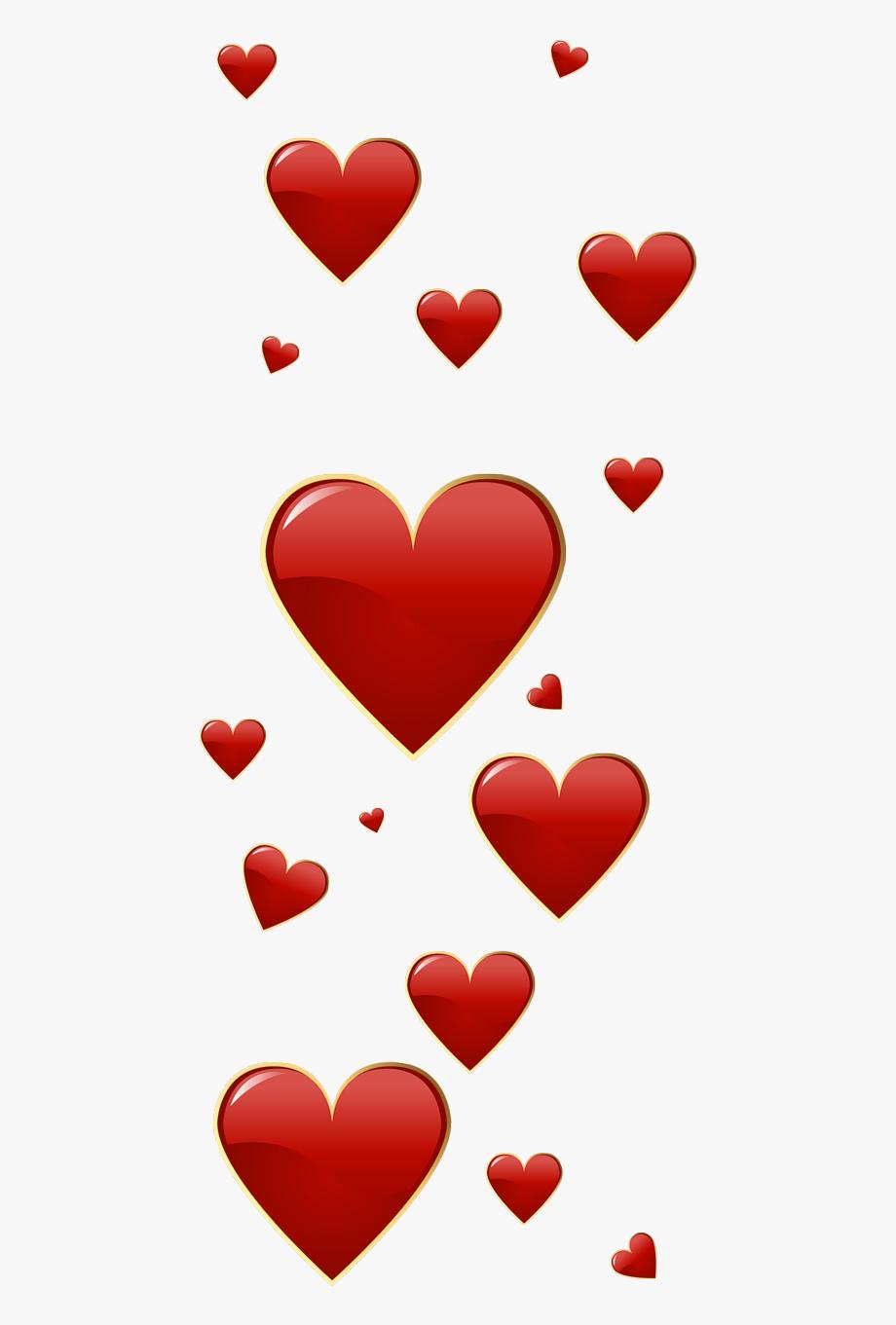Valentine red hearts.