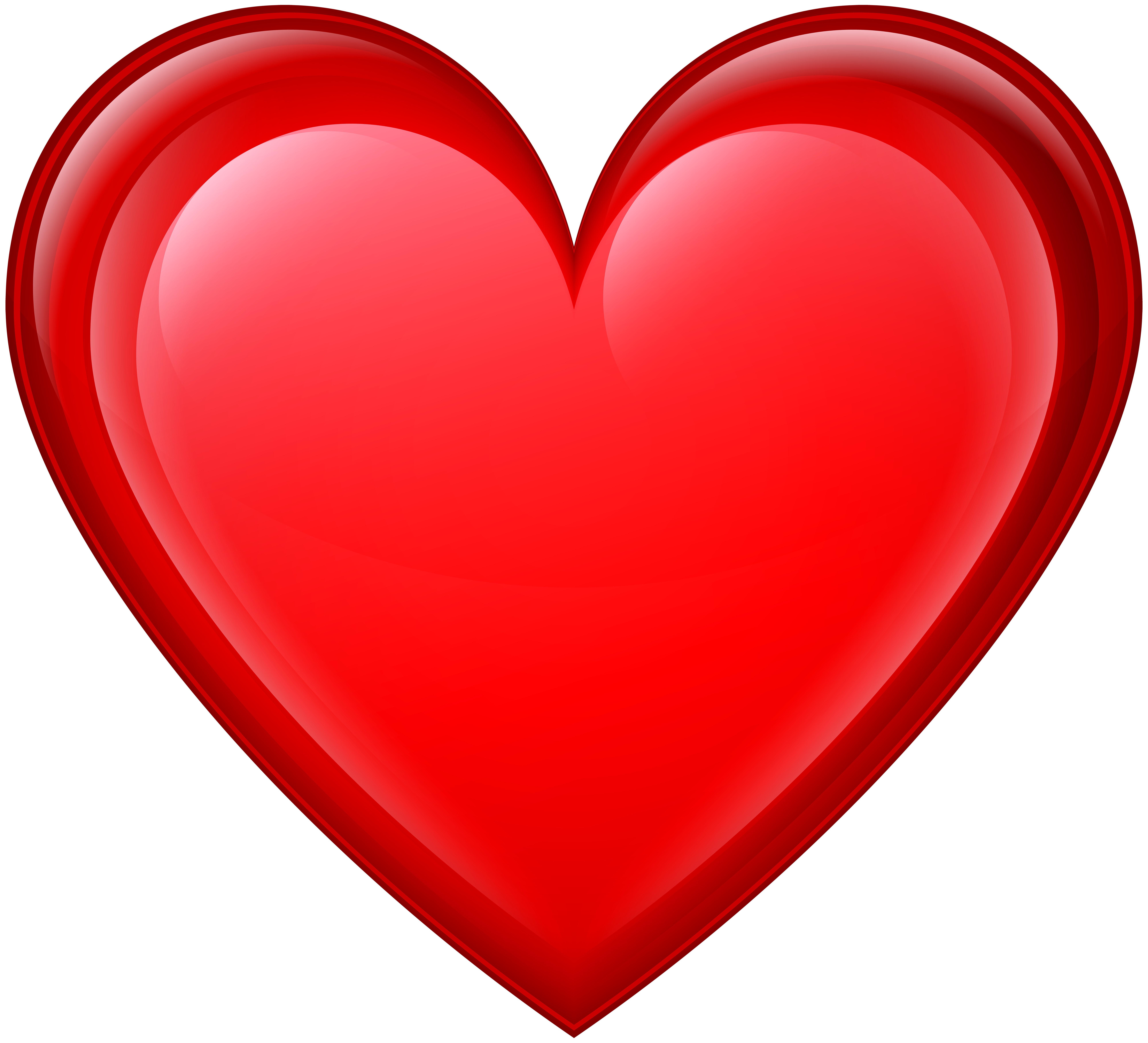 Heart Red PNG Transparent Clip Art Image
