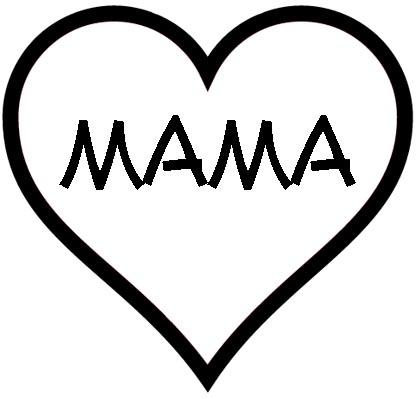 Herz mit mama.
