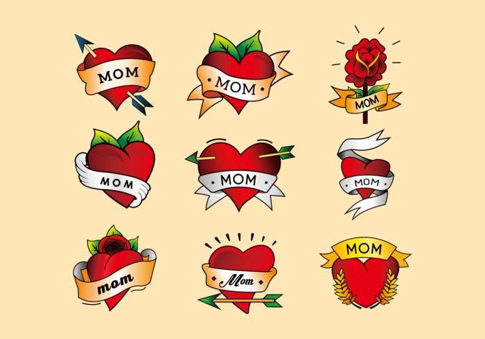 Mom tattoo herz.