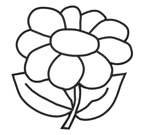 Free flower outline.
