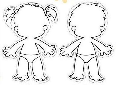 body outline clipart child