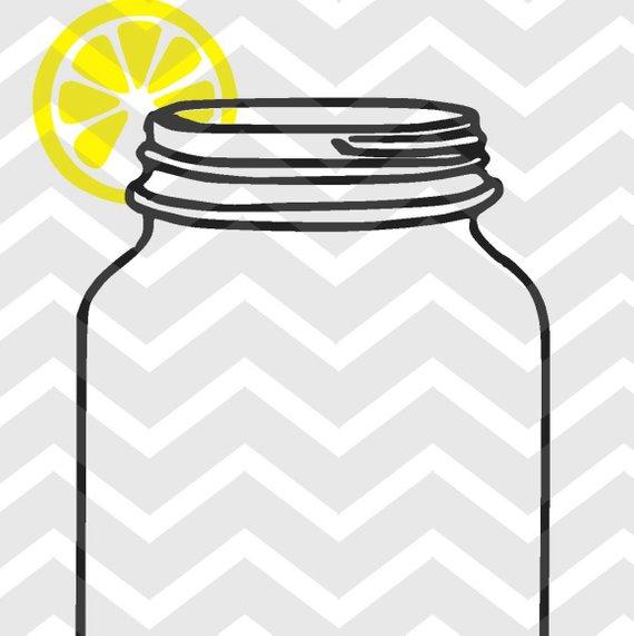 Mason jar with.