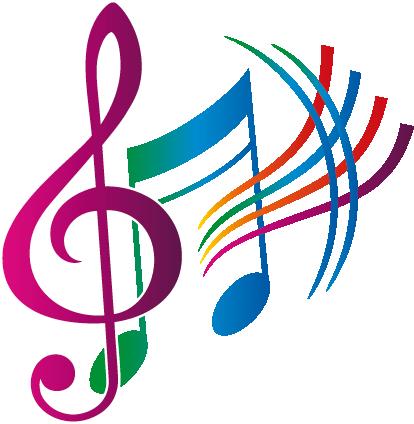 Notas musicales colores.