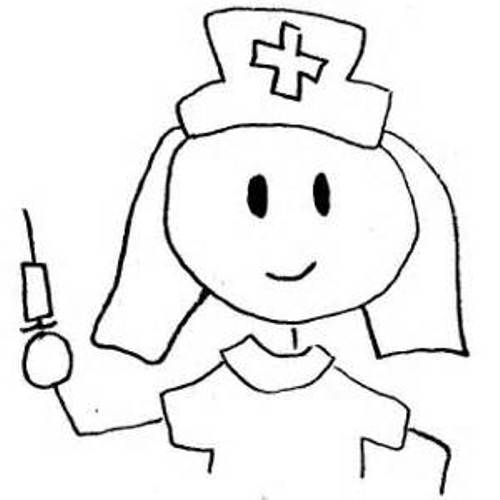 doctor clipart black and white nurse